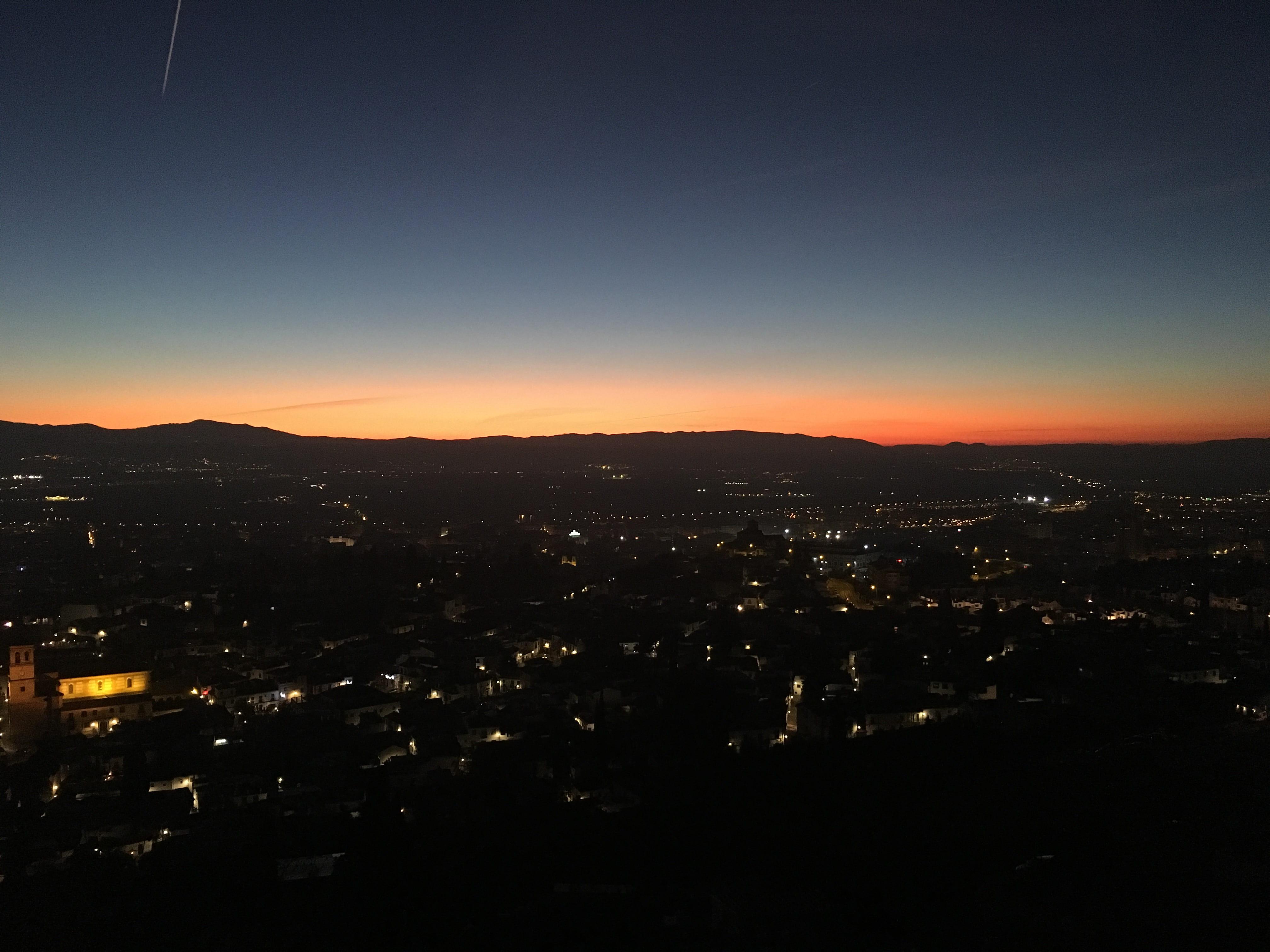 Sunset from el Mirador de San Miguel