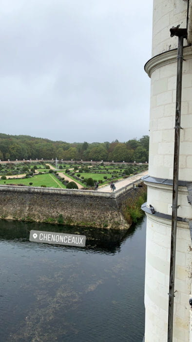 Moat and formal gardens