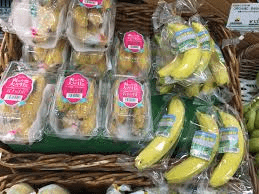 Individually wrapped bananas