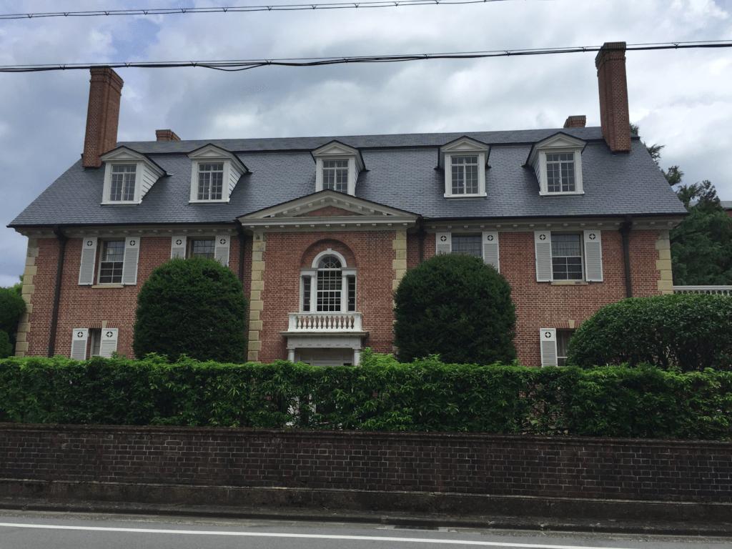 The brick building called Garman House at Doshisha University