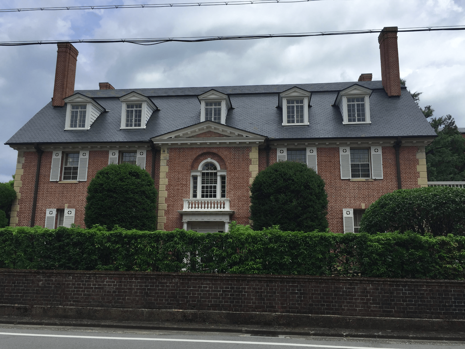 The brick building called Garman House at Doshisha University