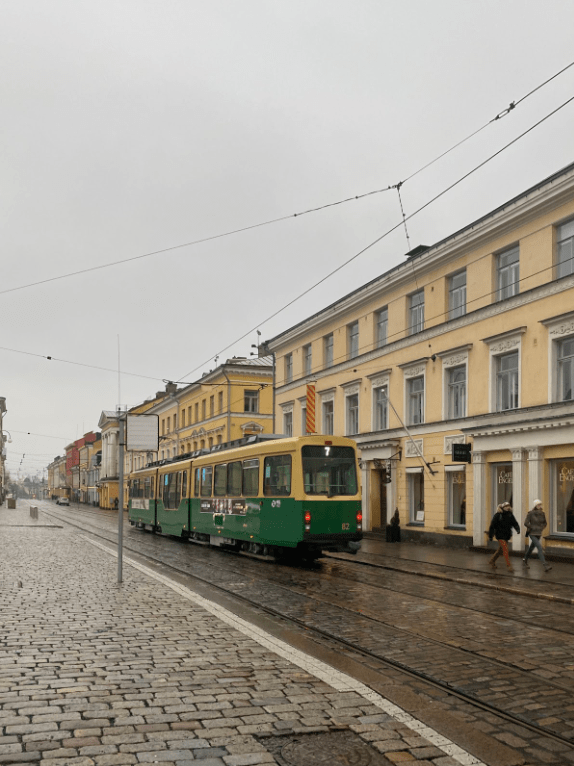 The tram system in Helsinki.