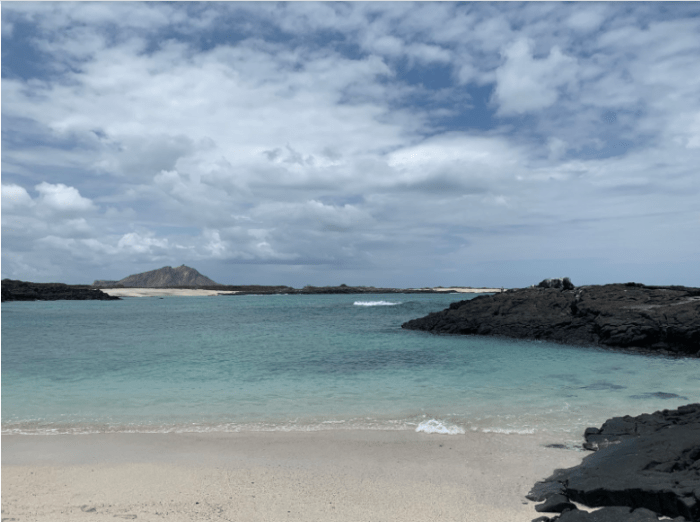 Punta Pucuna, a beautiful, remote beach in San Cristóbal.