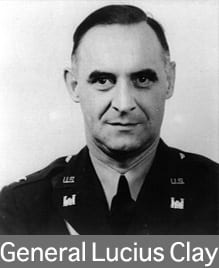 General Lucius D. Clay was the Deputy Military Governor for the U.S. Zone during the time that Loewenstein was in Germany. Military Governors Dwight Eisenhower, Goerge Patton and Joseph McNarney preceeded Clay, who became Military Governor in 1947.  Loewenstein criticized Clay for attempting to democratize Germany too quickly.  Loewenstein would have preferred a more thorough denazification before returning substantial power to the German people.