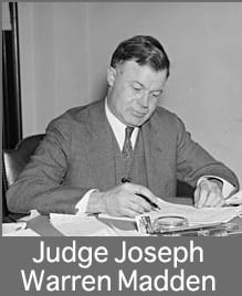 Judge Joseph Warren Madden served as the Associate Director, Director, and Legal Advisor of OMGUS's Legal Division from 1945 to 1946. Loewenstein held him in high regard, although he was concerned by Madden's lack of knowledge about German legal theory.