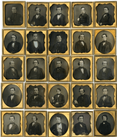 All 25 graduates of the Class of 1850. Photographs found in the Amherst College Archives & Special Collections.