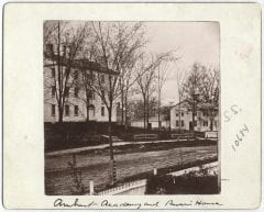 """Amherst Academy and Parsons House,"" Digital Amherst, accessed June 16, 2017, http://www.digitalamherst.org/items/show/776."
