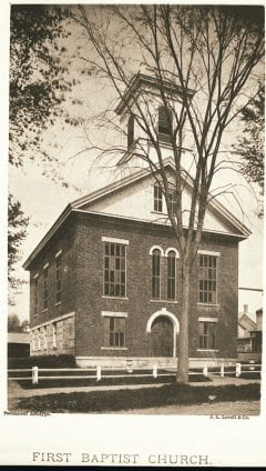 """Lovell, John L., 1825-1903, """"First Baptist Church in Amherst,"""" Digital Amherst, accessed July 13, 2017, http://www.digitalamherst.org/items/show/478."""