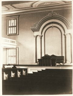 """Lovell, John L., 1825-1903, """"Interior of Johnson Chapel at Amherst College,"""" Digital Amherst, accessed July 25, 2017, http://www.digitalamherst.org/items/show/247."""