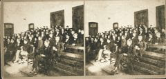 """Lovell, John L., 1825-1903, """"Classroom scene at Amherst College,"""" Digital Amherst, accessed July 25, 2017, http://www.digitalamherst.org/items/show/600."""