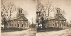 """Lovell, John L., 1825-1903, """"Old village church meetinghouse,"""" Digital Amherst, accessed June 16, 2017, http://www.digitalamherst.org/items/show/584."""