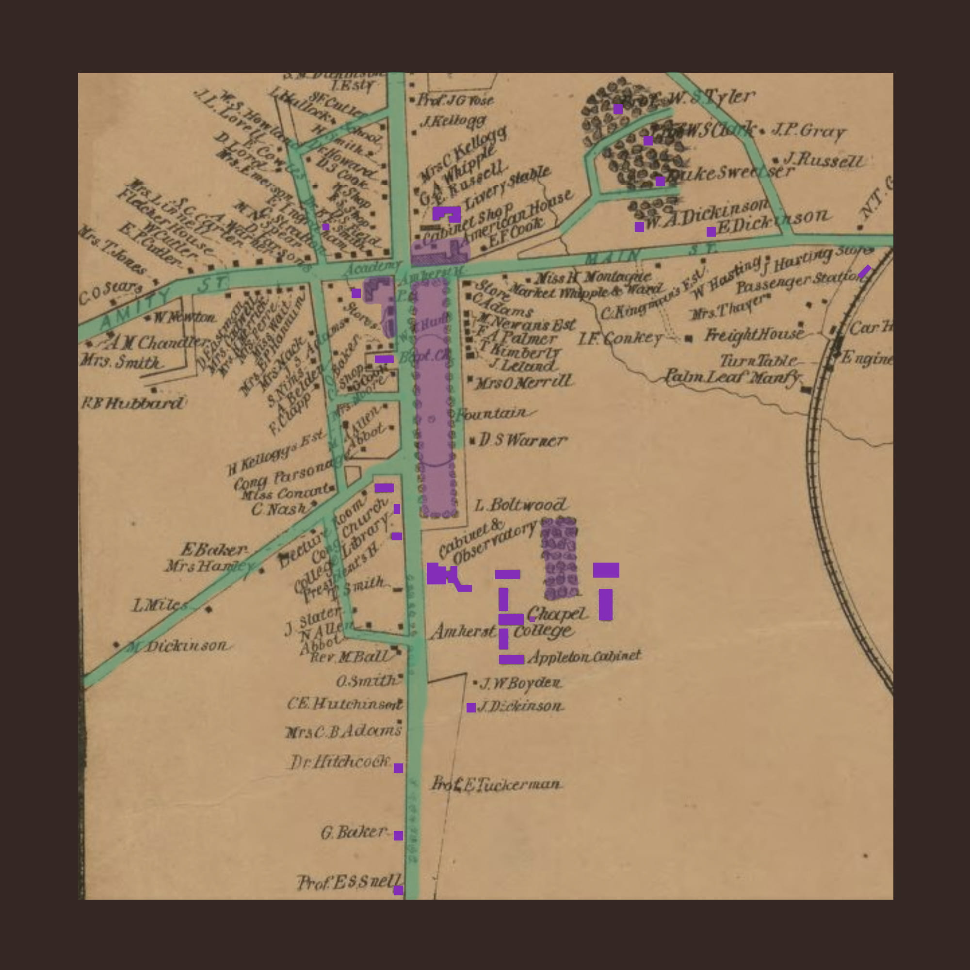 Amherst 1860 Map