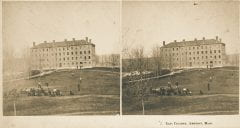"""Lovell, John L., 1825-1903, """"East College dormitory at Amherst College,"""" Digital Amherst, accessed July 25, 2017, http://www.digitalamherst.org/items/show/582."""