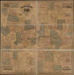 """Walling, Henry Francis, 1825-1888, """"Topographical map of Hampshire County, Massachusetts,"""" Digital Amherst, accessed July 25, 2017, http://www.digitalamherst.org/items/show/28."""