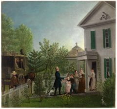 Peckham, Professor Edward Hitchcock Returning from a Journey. Oil on canvas mounted on board, 25 x 26.5 in, ca. 1838. Mead Art Museum, Amherst, MA.