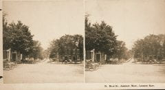 """Lovell, John L., 1825-1903, """"View east down Main Street in Amherst,"""" Digital Amherst, accessed June 16, 2017, http://www.digitalamherst.org/items/show/644."""