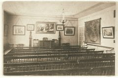 """Lovell, John L., 1825-1903, """"Professor Mather's recital room at Amherst College,"""" Digital Amherst, accessed July 25, 2017, http://www.digitalamherst.org/items/show/184."""