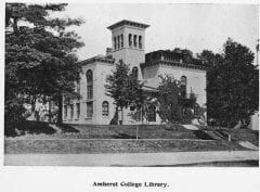 """Lovell, John L., 1825-1903, """"Morgan Library at Amherst College,"""" Digital Amherst, accessed July 21, 2017, http://www.digitalamherst.org/items/show/91."""