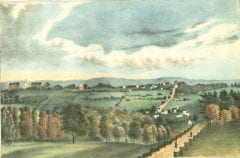 """Hitchcock, Orra White, 1796-1863, """"Autumnal scenery, view in Amherst,"""" Digital Amherst, accessed June 16, 2017, http://www.digitalamherst.org/items/show/742."""