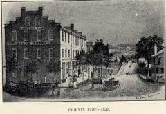 """Phoenix Row and Main Street (""""H.W.P., del.,"""" J.C. Sharps Press, 1840)"""