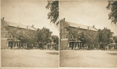 """Lovell, John L., 1825-1903, """"West end of Phoenix Row in Amherst,"""" Digital Amherst, accessed June 16, 2017, http://www.digitalamherst.org/items/show/661."""