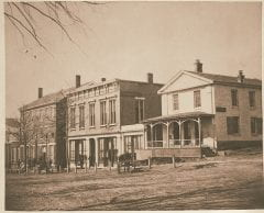 "Lovell, John L., 1825-1903, ""Merchants' Row on South Pleasant Street,"" Digital Amherst, accessed June 16, 2017, http://www.digitalamherst.org/items/show/453."