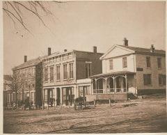 "Lovell, John L., 1825-1903, ""Merchants' Row on South Pleasant Street,"" Digital Amherst, accessed June 16, 2017, http://www.digitalamherst.org/items/show/453."