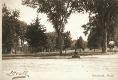"""Lovell, John L., 1825-1903, """"Amherst Town Common,"""" Digital Amherst, accessed July 11, 2017, http://www.digitalamherst.org/items/show/486."""