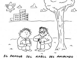 Mano y Orejones en el parque del Àrbol del Ahorcado