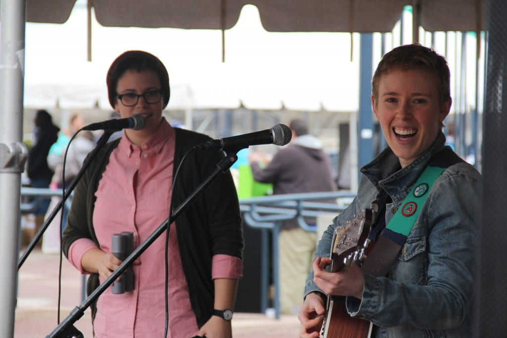 Hannah & Maggie performing at Riverfront Earth Day at Mortenson Plaza in Hartford, CT on April 27th, 2014.