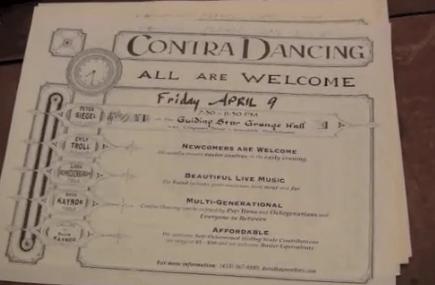 Contra Dance Billet