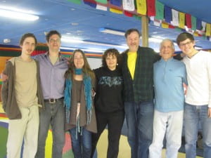Taylor Haney, far right, with members of the Vajra dance group.