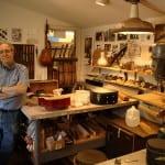 William Cumpiano in his workshop
