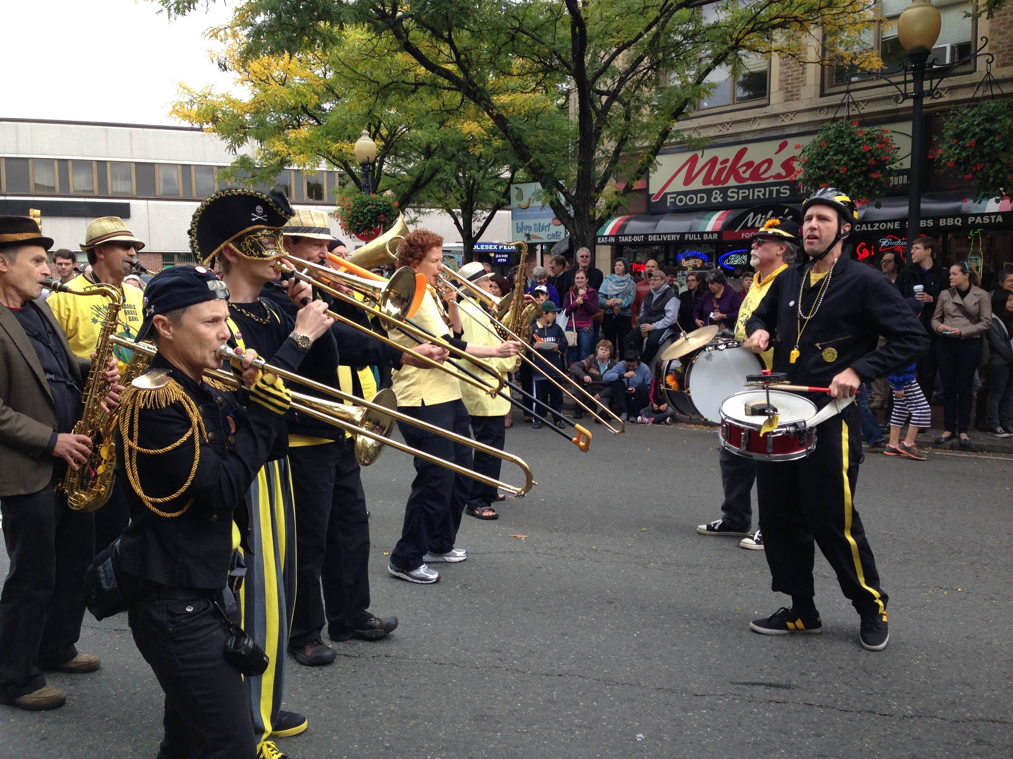 The EBB marching in a parade at HONK!