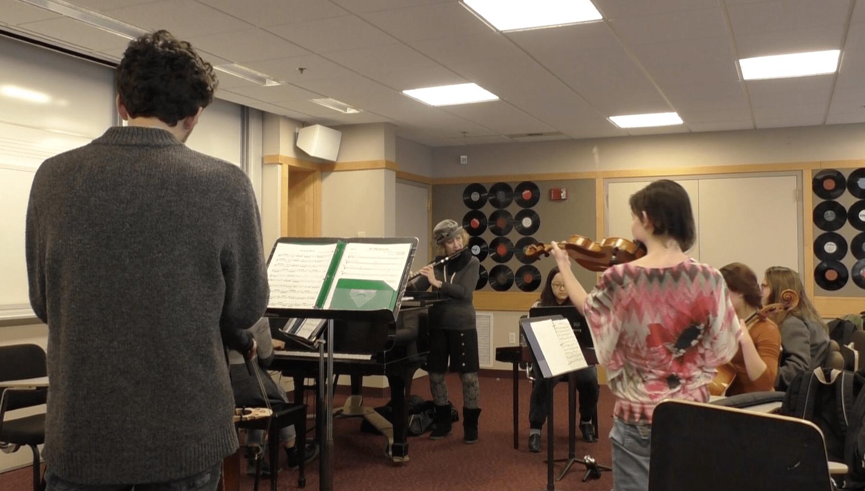Mount Holyoke College Klezmer Band Rehearsal