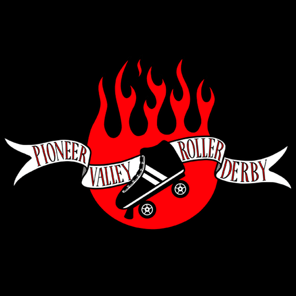 pioneer valley roller derby logo