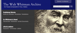walt whitman archive site
