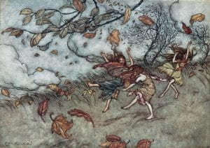 rackham three girls in wind
