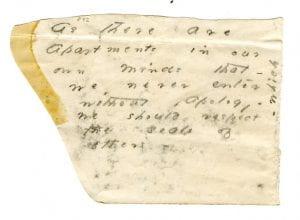 poem written on part of envelope