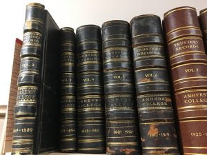 Volumes 2 - 7 of the Board of Trustees minutes