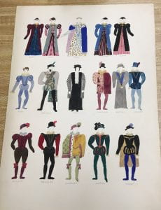 Costume designs, Dramatic Activities Collection box COS-1