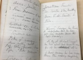 William Stearns faculty meeting notes, 1872