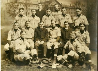 photograph of the 1902 Amherst College baseball team