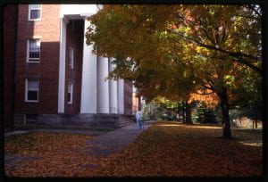 Johnson Chapel exterior, 1992 Oct