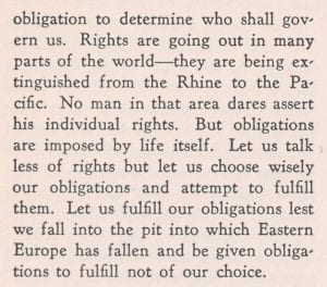 Second excerpt of King's speech on rights vs. obligations