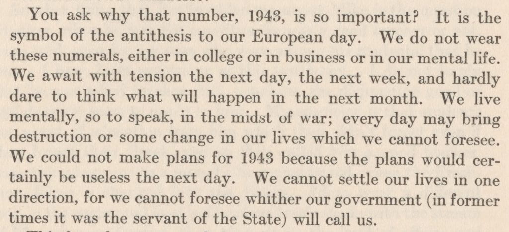 Ernst Beier writes about how Europeans can right now only focus on the next day or week, not month or year