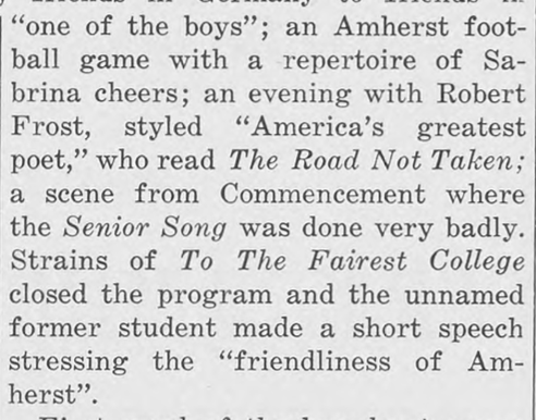 Excerpt of Amherst Student article on Nazi propaganda broadcast