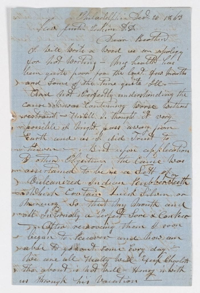 John O. Mead letter to Justin Perkins, 1863 December 20, Digitized