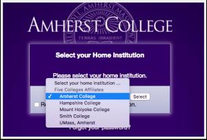 amherst login