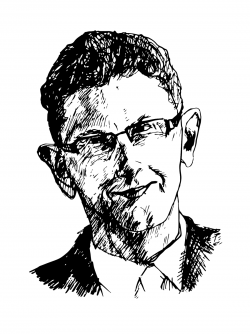 Drawing of Peter Uvin